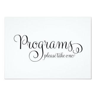 Het Teken van het Huwelijk van het programma, 12,7x17,8 Uitnodiging Kaart