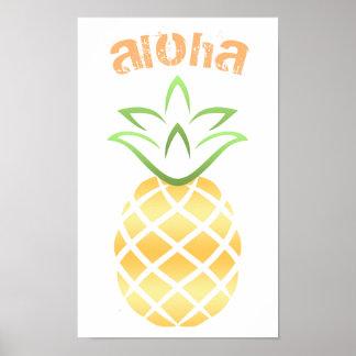 Het Teken van het Poster van de Ananas van Aloha
