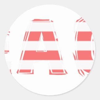 Het Teken van het strand - strepen Ronde Sticker