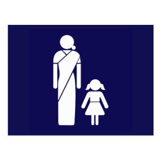Het Teken van het Toilet van dames, India Briefkaart