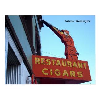 Het Teken Yakima, Washington van het Centrum van Briefkaart