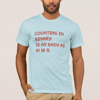 het tellen in binair getal t shirt