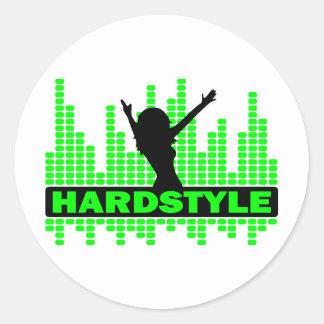 Het tempoontwerp van de Danser van Hardstyle Ronde Sticker