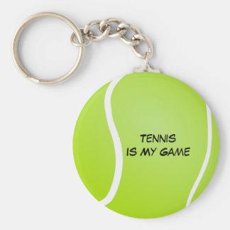 Het tennis is Mijn Spel Basic Ronde Button Sleutelhanger