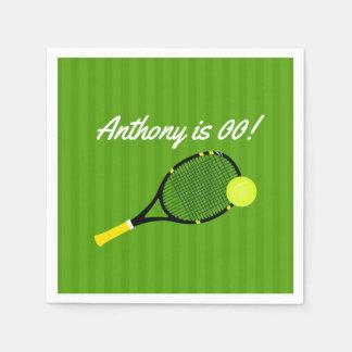 Het tennis themed gepersonaliseerde de Partij van Papieren Servetten