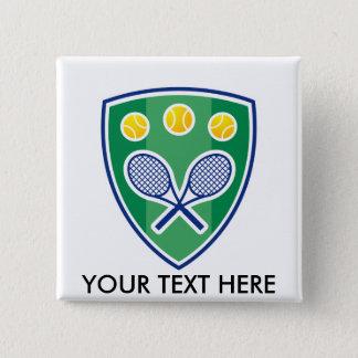 Het tennisgift van de douane voor club of vierkante button 5,1 cm