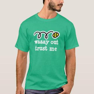 Het tennisoverhemd | van het mannen grappige t shirt