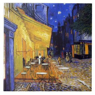 Het Terras van de koffie door Vincent van Gogh Tegeltje