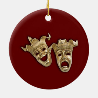 Het Theater van de komedie en van de Tragedie Rond Keramisch Ornament