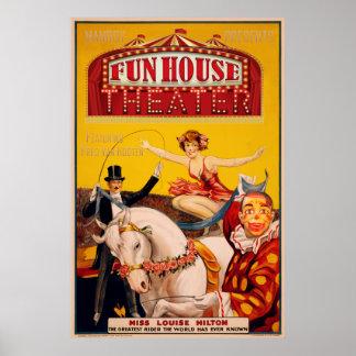 Het Theater van het Huis van de pret Poster