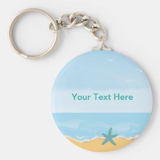 Het Thema Keychain van het strand Sleutelhanger