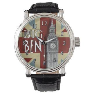 Het Thema van Big Ben Londen Union Jack Horloges