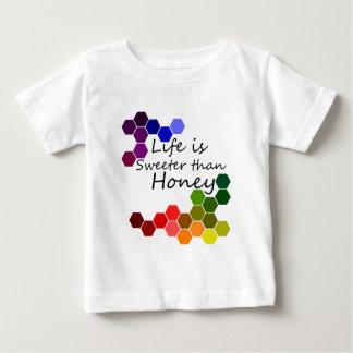 Het Thema van de honing met Positieve Woorden Baby T Shirts