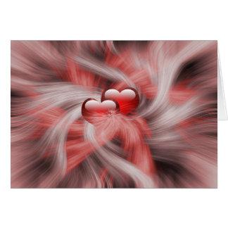 Het Thema van de Liefde van harten Kaart