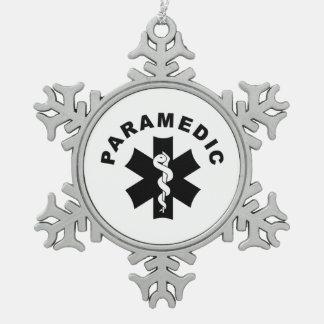 Het Thema van de paramedicus Tin Sneeuwvlok Ornament