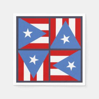 Het Thema van de Partij van Puerto Rico: Het Wegwerp Servetten
