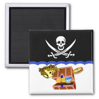 Het Thema van de piraat: De schone Vuile magneet v