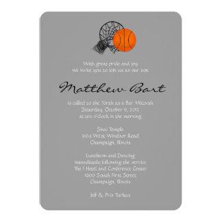 Het Thema van het Basketbal van de Uitnodiging van
