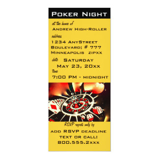 Het Thema van het Casino van de Nacht van de pook 10,2x23,5 Uitnodiging Kaart