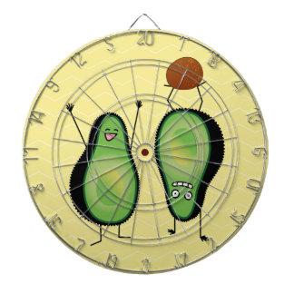 Het toejuichen van de avocado grappige handstand dartbord