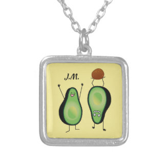 Het toejuichen van de avocado grappige handstand zilver vergulden ketting