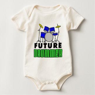 Het toekomstige Blauwe Drumstel van de Slagwerker Baby Shirt