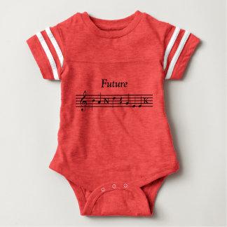 Het toekomstige Overhemd van Geek van de Band Baby Bodysuit