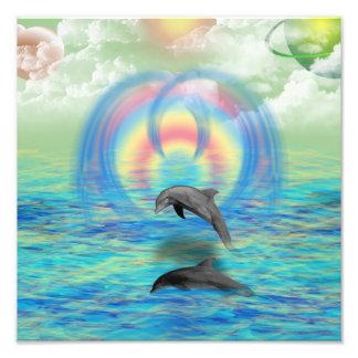 Het Toenemen van de dolfijn Fotoafdruk