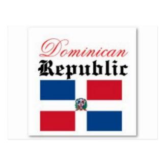 Het Toestel van de Vlag van de Dominicaanse Briefkaart