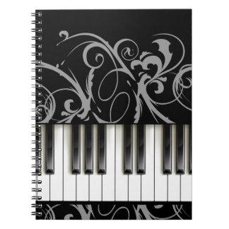 Het Toetsenbord van de piano Ringband Notitieboeken