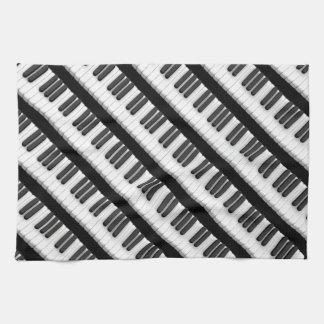 Het toetsenbord van de piano theedoek