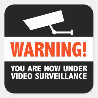 Het Toezicht van de videocamera Vierkante Stickers