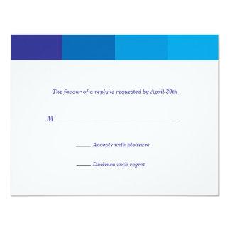 Het toon- Blauwe Antwoord van de Bar mitswa Kaart