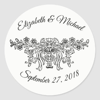 Het Traditionele Huwelijk van Coventry Ronde Sticker