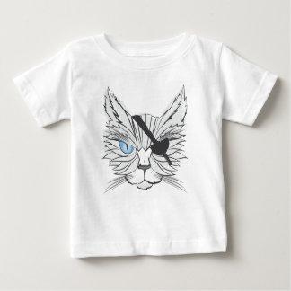Het trekken van de Kat van de Piraat Baby T Shirts