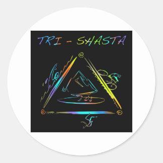 Het tri Logo van Shasta Triathalon Ronde Sticker