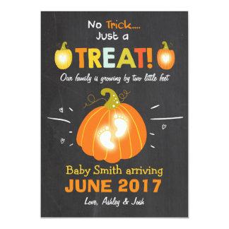 Het Trick or treat van de de 12,7x17,8 Uitnodiging Kaart