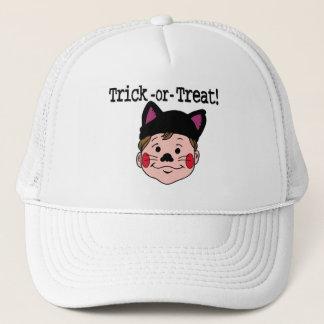 Het Trick or treat van de jongen Trucker Pet