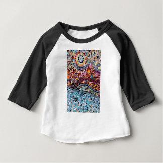 Het trillende Art. van de Muur van het Mozaïek Baby T Shirts