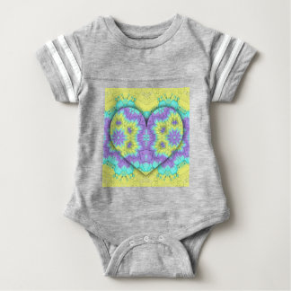 Het trillende Feestelijke 3d gevormde Hart van de Baby Bodysuit
