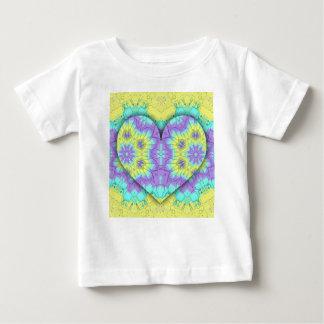 Het trillende Feestelijke 3d gevormde Hart van de Baby T Shirts