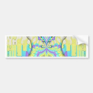 Het trillende Feestelijke Abstracte Patroon van de Bumpersticker