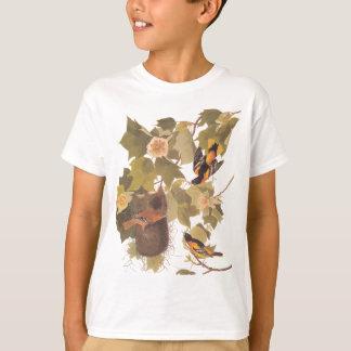 Het Trio van Baltimore Oriole van Audubon T Shirt
