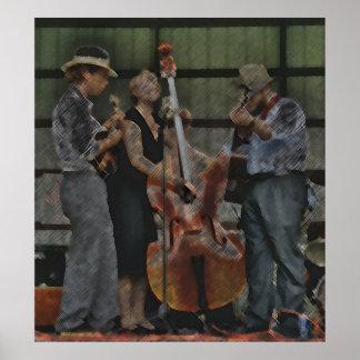 Het Trio van Bluegrass Poster