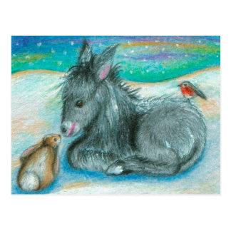 Het Trio van Kerstmis in de sneeuw Briefkaart