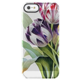 Het Trio van tulpen Doorzichtig iPhone SE/5/5s Hoesje