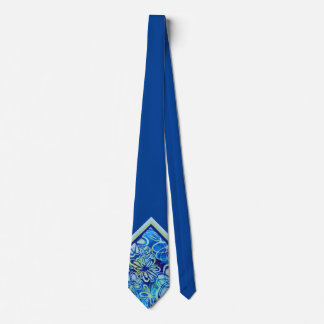 Het tropische Blauwe BloemenStropdas van de Hals Custom Stropdas