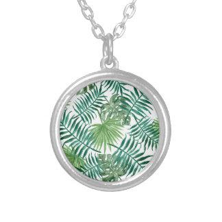Het Tropische Botanische Palmblad van het plant Zilver Vergulden Ketting