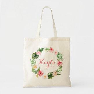 Het tropische Canvas tas van Bladeren.