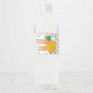 Het tropische etiket van het ananasbaby shower